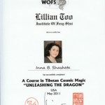 "Diploma-Tibetan-Cosmic-Magic-Course-""Unleashing the Dragon""-Feng-Shui-consultation"